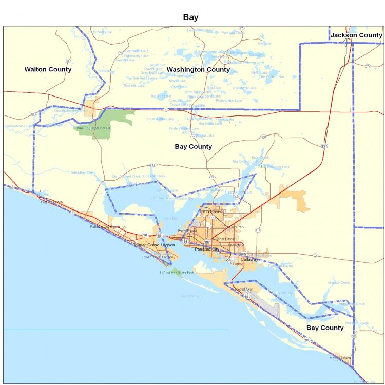 Florida State City Map.Bay County Fl Map Florida Map Map Of Florida Florida State