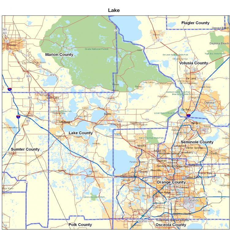 Lake County Florida Map State South Florida County Map Seminole - County map of florida